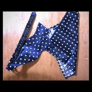 Other - Navy blue polka dot bow tie